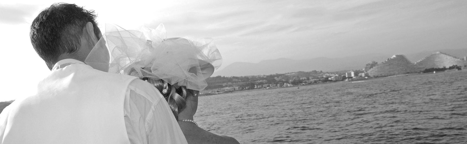 photos de mariage noirs et blancs